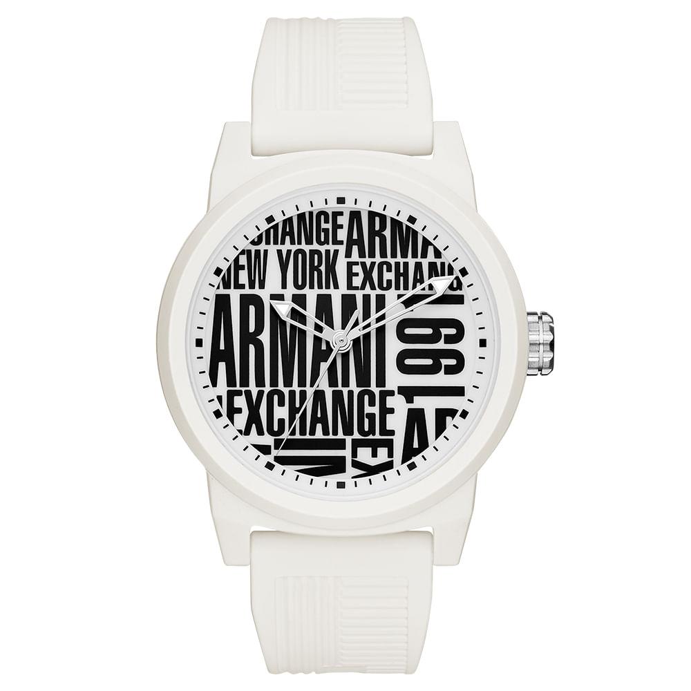 4f281cf631f Relógio Armani Exchange Masculino Atlc Branco - timecenter