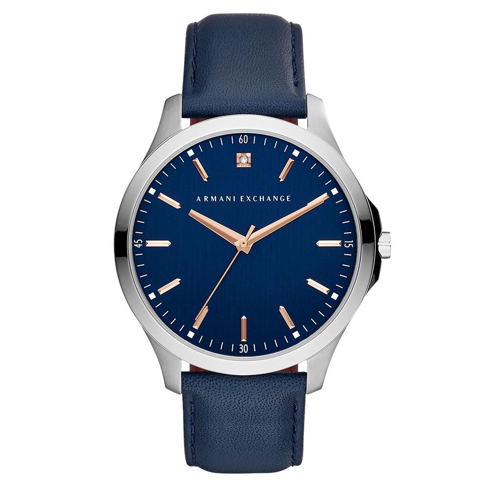 53262e9a7a4 AX24060AN. AX24060AN  AX24060AN. Armani Exchange. Relógio Armani Exchange  Masculino Hampton Prata ...