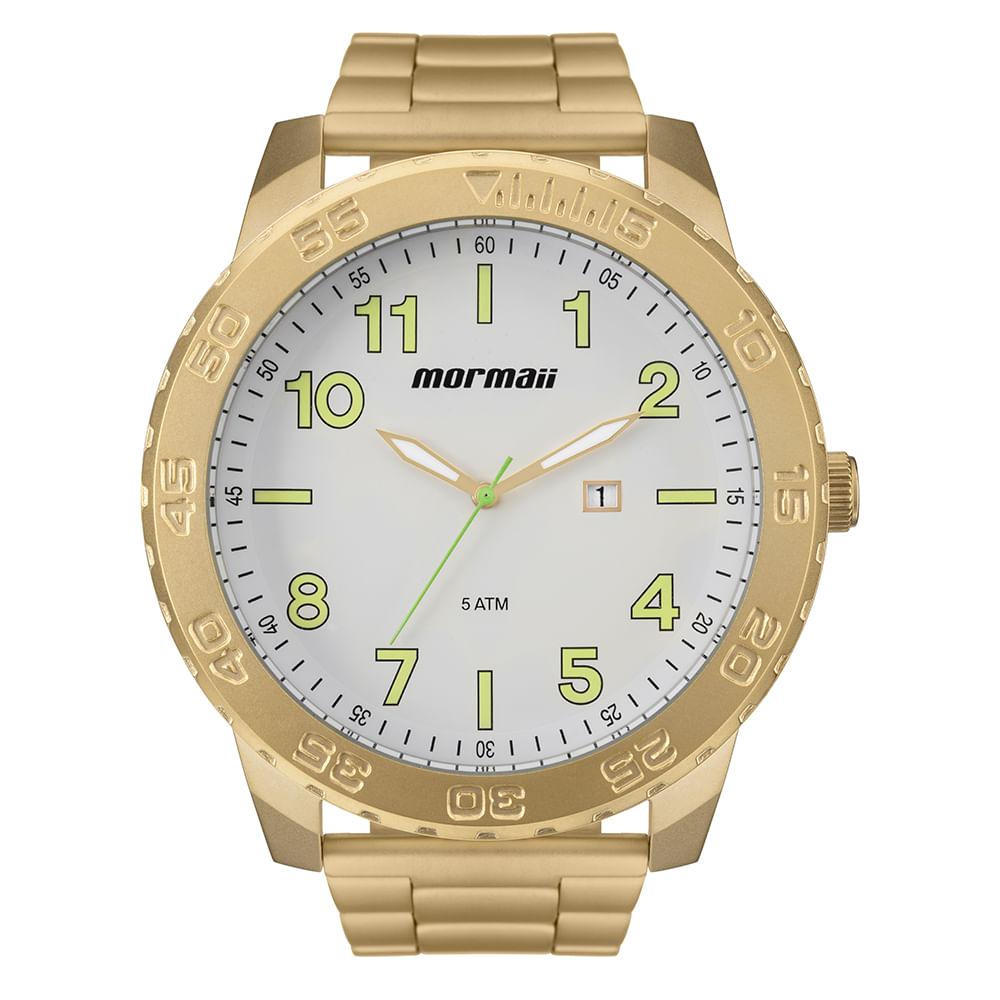 Relógio Mormaii Masculino Art Dourado - timecenter 298a58d5a9
