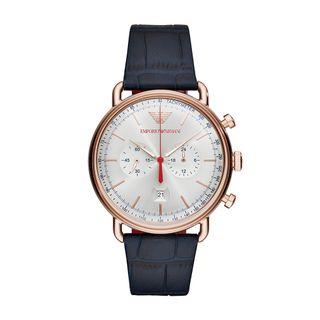 Relógio Empório Armani Masculino Aviator Chrono Rosé - AR11123 0AN 0a42ed0047
