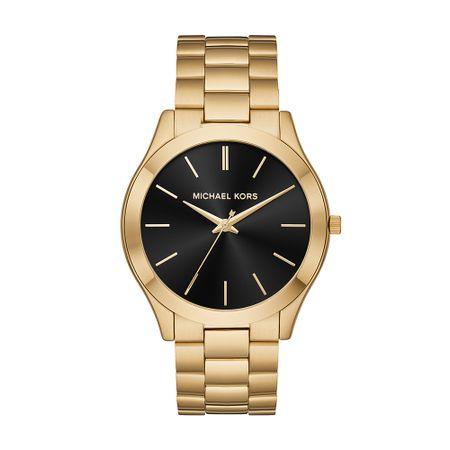 Relógio Michael Kors Feminino Slim Runway Dourado - MK8621/1DN
