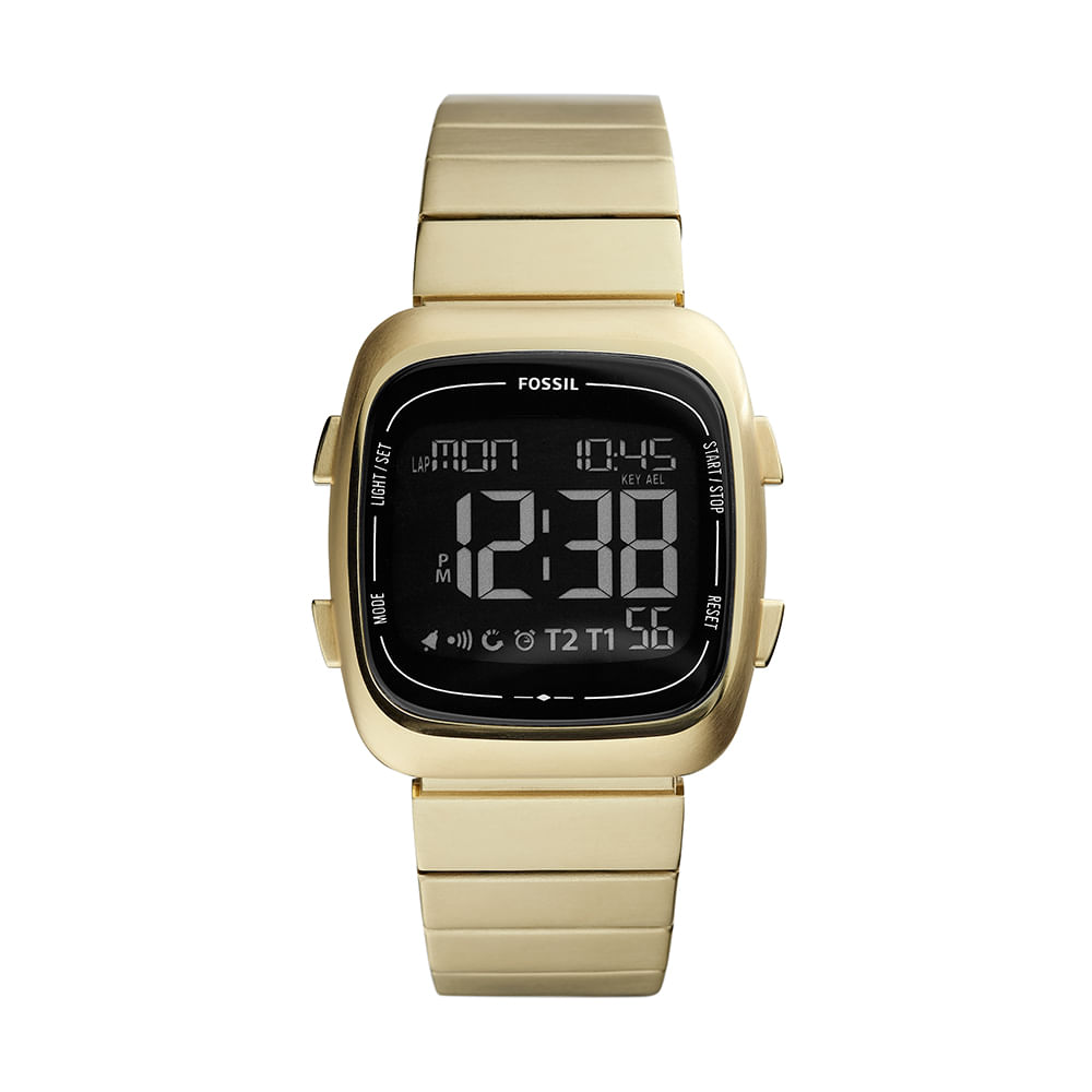 Relógio Fossil Unissex Rutherford Dourado - fossil 6085d7026a