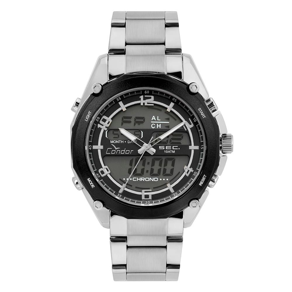 41f0b75d53af0 COY121E6AC3P. Condor. Relógio Condor Masculino Anadigi ...