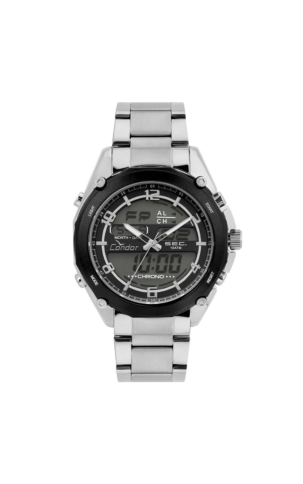 Relógio Condor Masculino Anadigi Prata - COY121E6AC 3P. undefined 300451c3e3