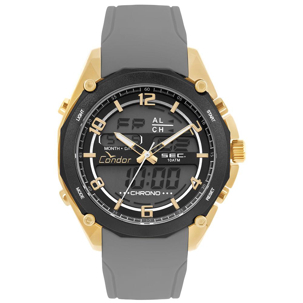 d3b9a4a6494 Relógio Condor Masculino Anadigi Dourado - timecenter