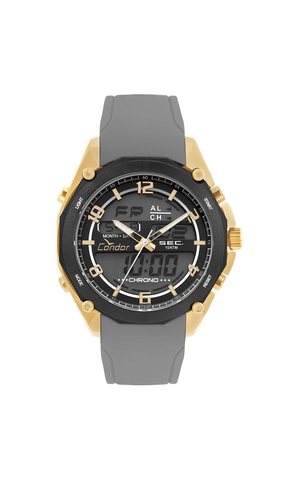 Relógio Condor Masculino Anadigi Dourado - COY121E6AD 3P. undefined 185b4b0dc5