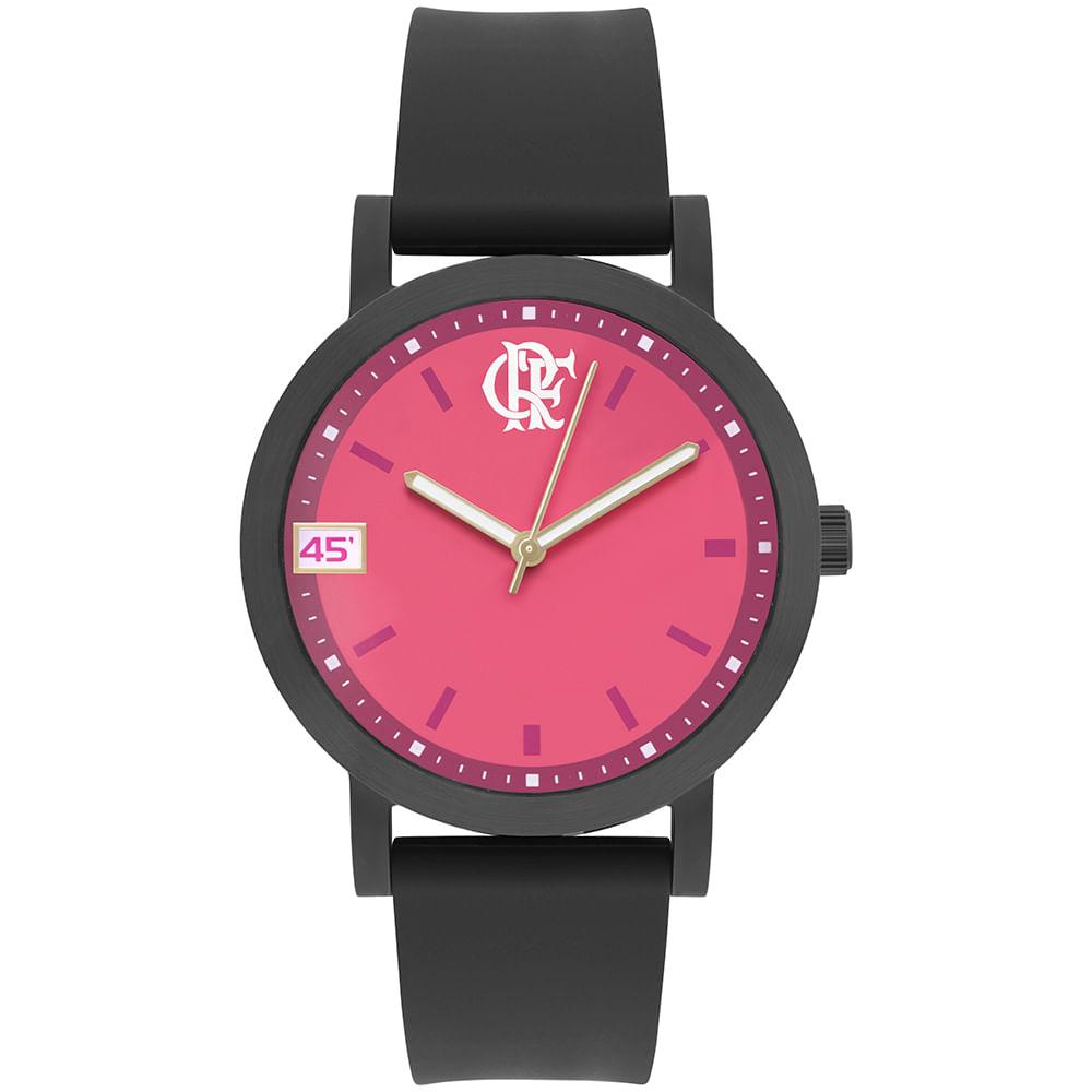 92f94a4fae306 Times de Futebol. Relógio Clubes Technos Feminino Flamengo Preto ...