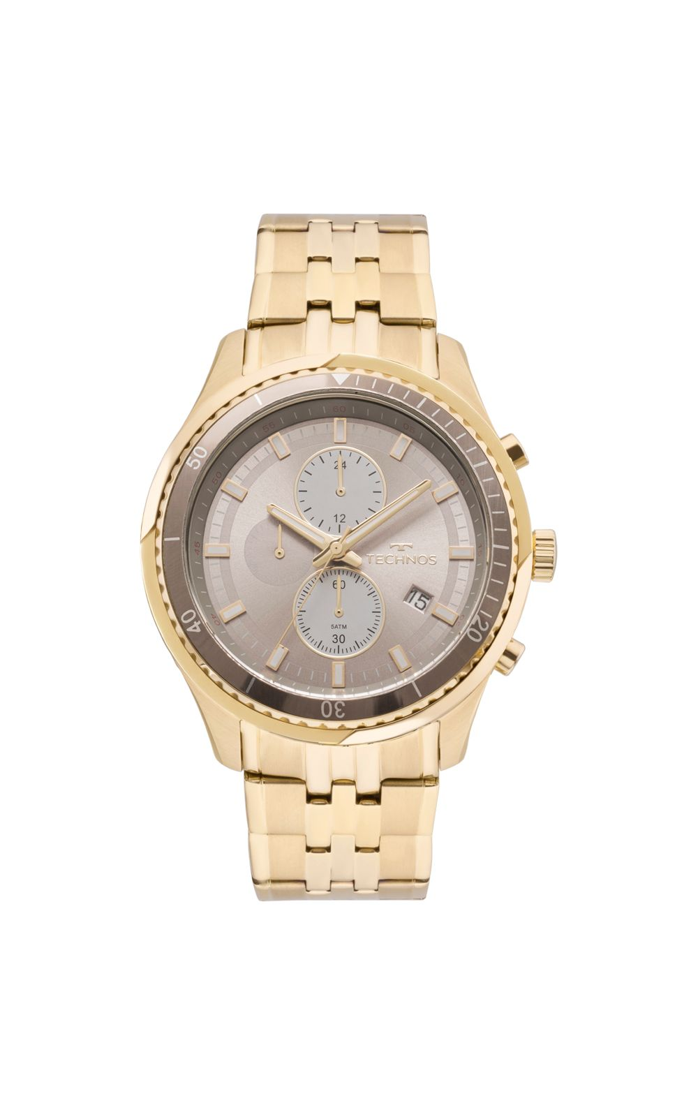 5751410baa2 Relógio Technos Masculino Skymaster Dourado - JS15FE 4C. undefined