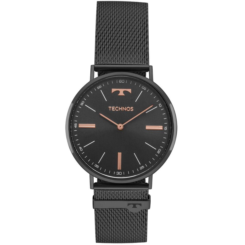 2025LTM4P. 2025LTM4P. Technos. Relógio Technos Unissex Classic Slim Preto  ... 54fa5405b0