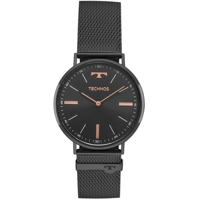 335b236dfd909 Relógio Technos Unissex Classic Slim Preto - 2025LTM 4P