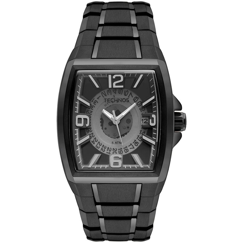 Relógio Technos Masculino Skymaster Preto - timecenter 417a4d4139