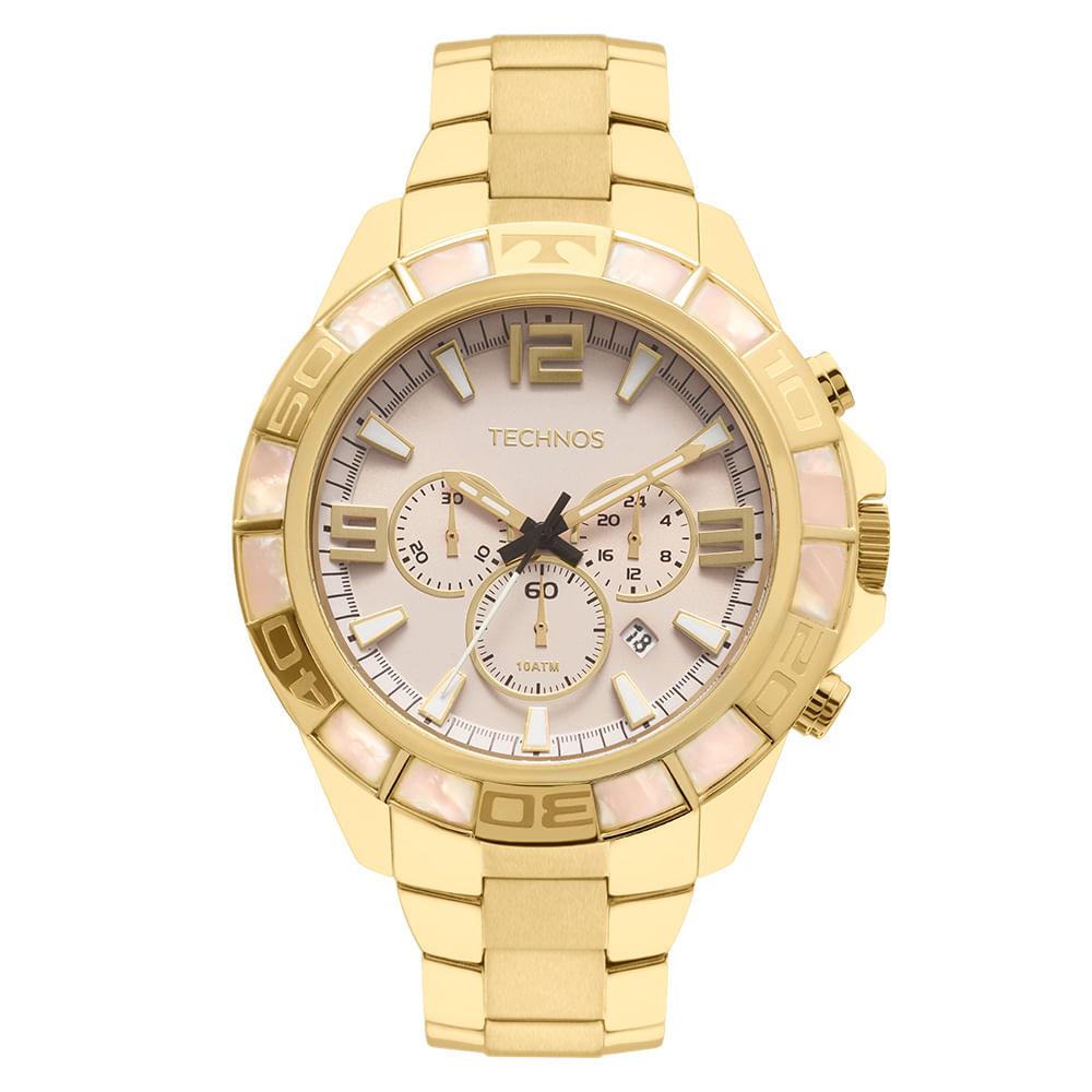 8b298608a1db4 JS25BI4B. Technos. Relógio Technos Masculino Legacy Dourado ...