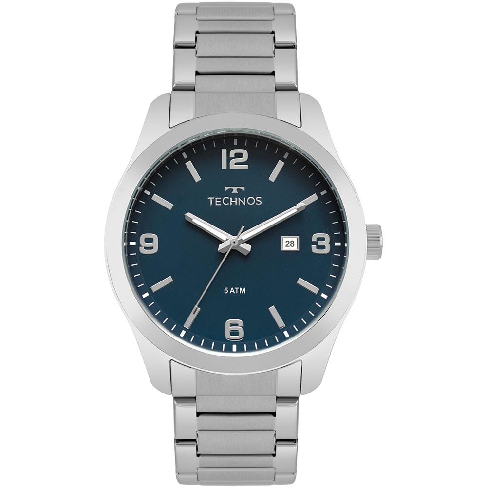 f16703ff5f6 Relógio Technos Masculino Steel Prata - timecenter