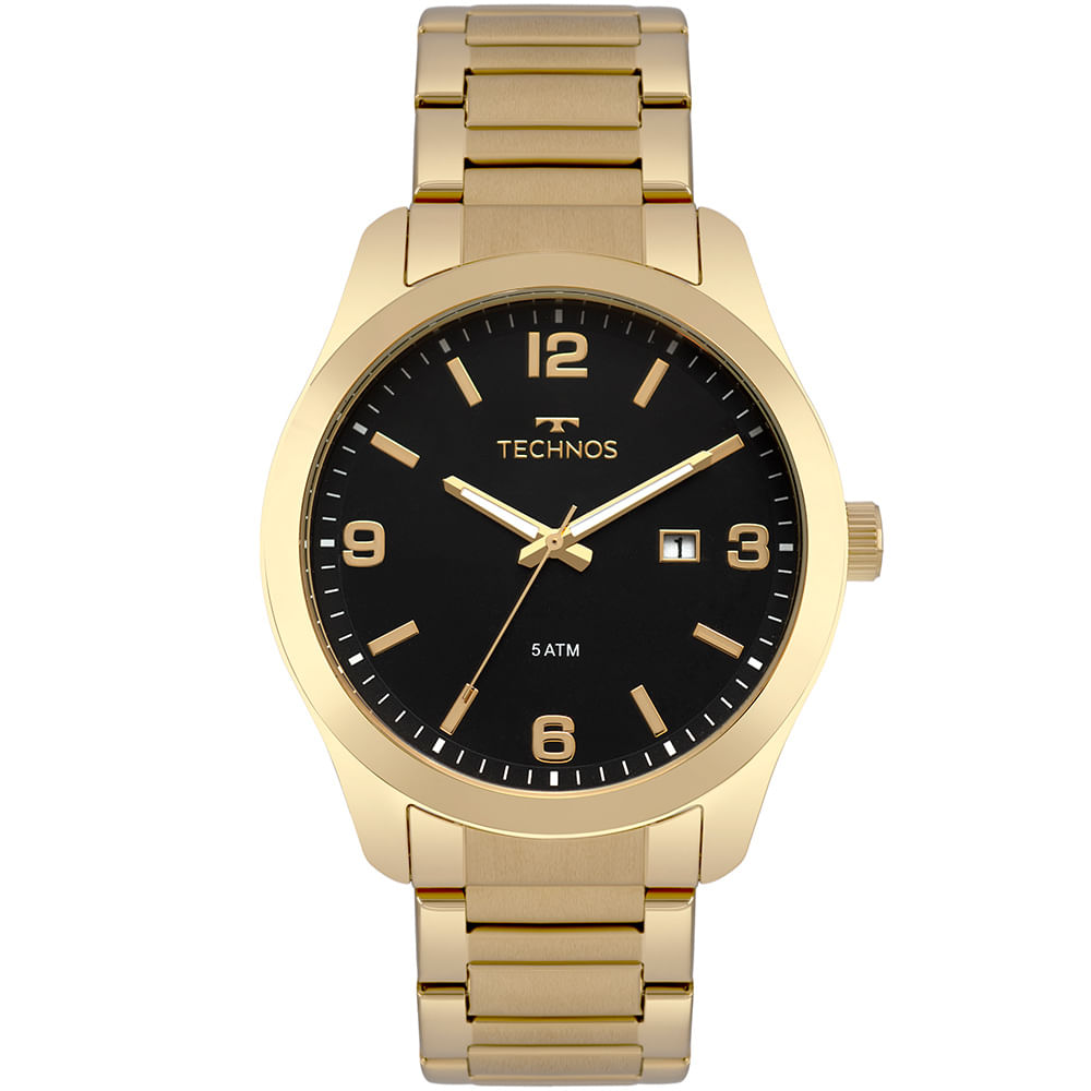 fc233d105b6f6 Relógio Technos Masculino Steel Dourado - timecenter