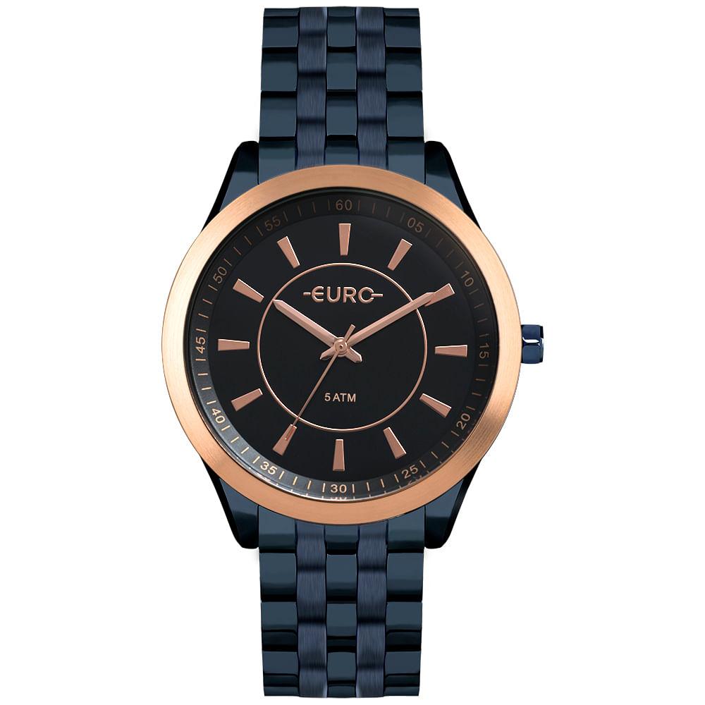 Relógio Euro Feminino Color Slim Azul - timecenter b2c832efec