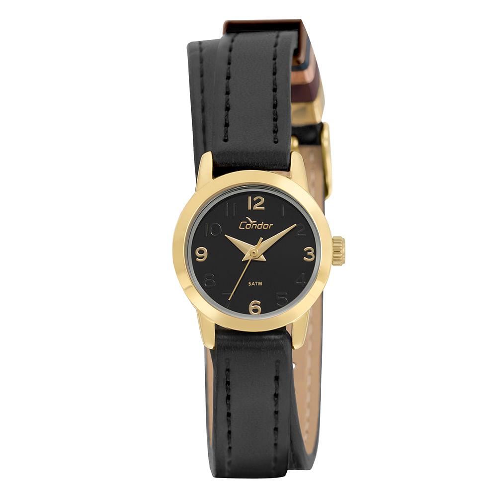 36954a238a8 Relógio Condor Feminino Mini Dourado - timecenter