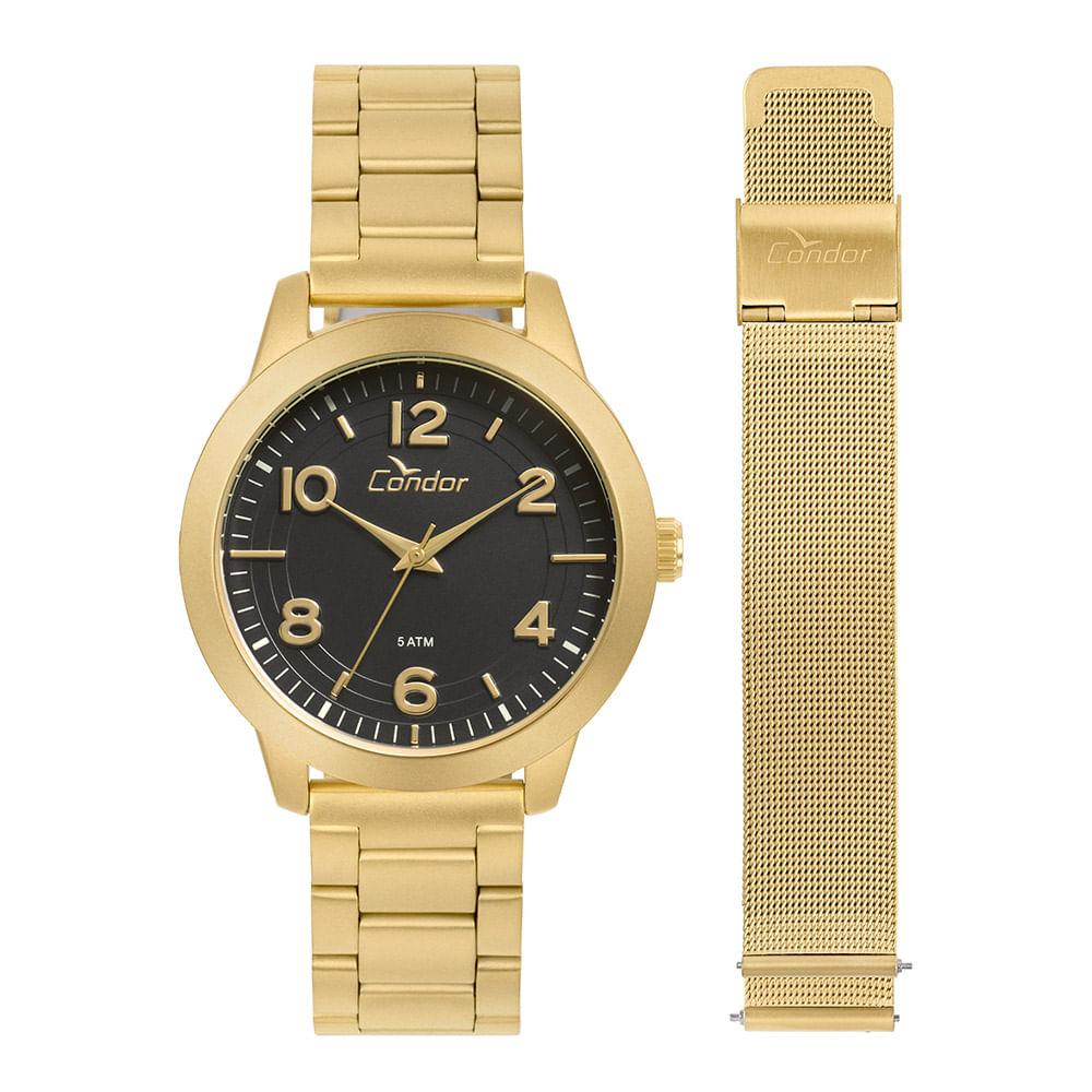 d6029d0b775 CO2036KUQT4P 2  CO2036KUQT4P 2. Condor. Relógio Condor Feminino Bracelete  Dourado ...