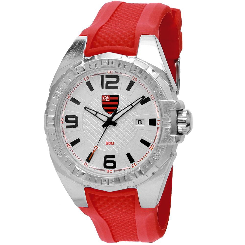 Relógio Clubes Technos Masculino Flamengo Vermelho - timecenter f57f2bffbd