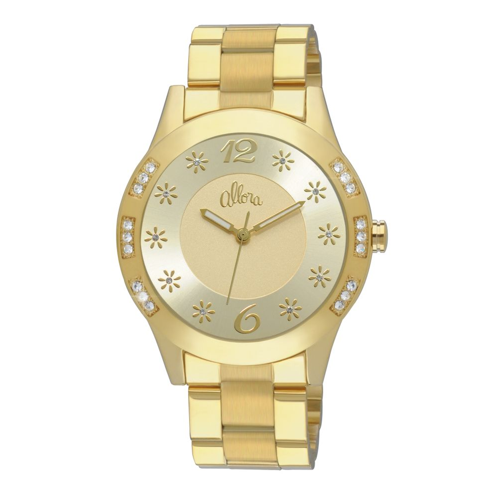 0193f4ac5cf Relógio Allora Feminino Dourado - AL2035AC 4X - timecenter