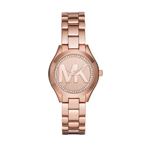 946bee64a89ba Relógio Michael Kors Feminino Mini Slim Runway Rosé - MK3549 1KI -  timecenter