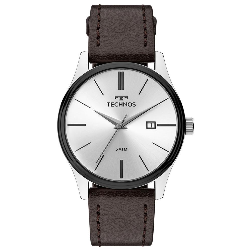 Relógio Technos Masculino Steel Prata 2115MPP 1K - timecenter e1d3e40f4a