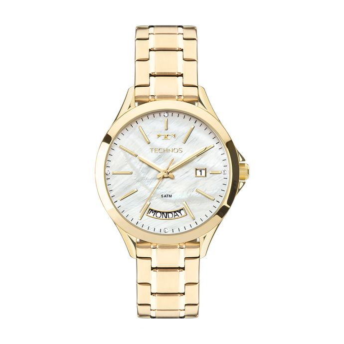Relógio Technos Feminino Trend Dourado 2350AE 4B. R  379 ... 620a8f6b66