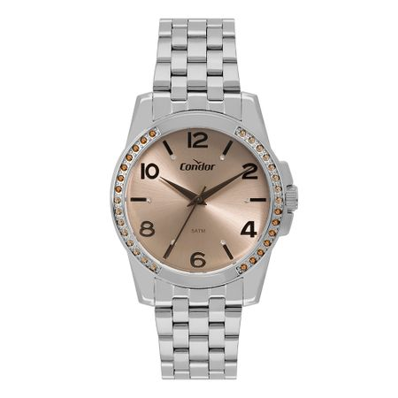 Relógio Condor Feminino Bracelete Prata CO2036KUT/K3M