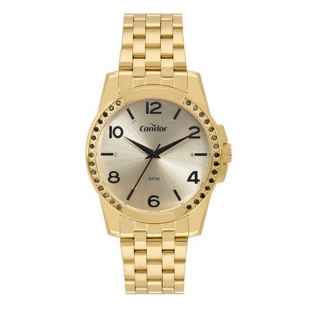 Relógio Condor Feminino Bracelete Dourado CO2036KUU/K4D