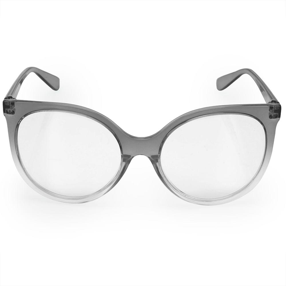 fb0a4d431ed7d Óculos Euro Feminino Classic Cat Cinza E6003DE257 8C - timecenter