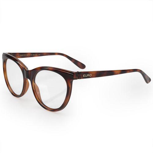 48a3417fc30d1 Óculos Euro Feminino Classic Cat Tortoise E6002F2153 8S - euro
