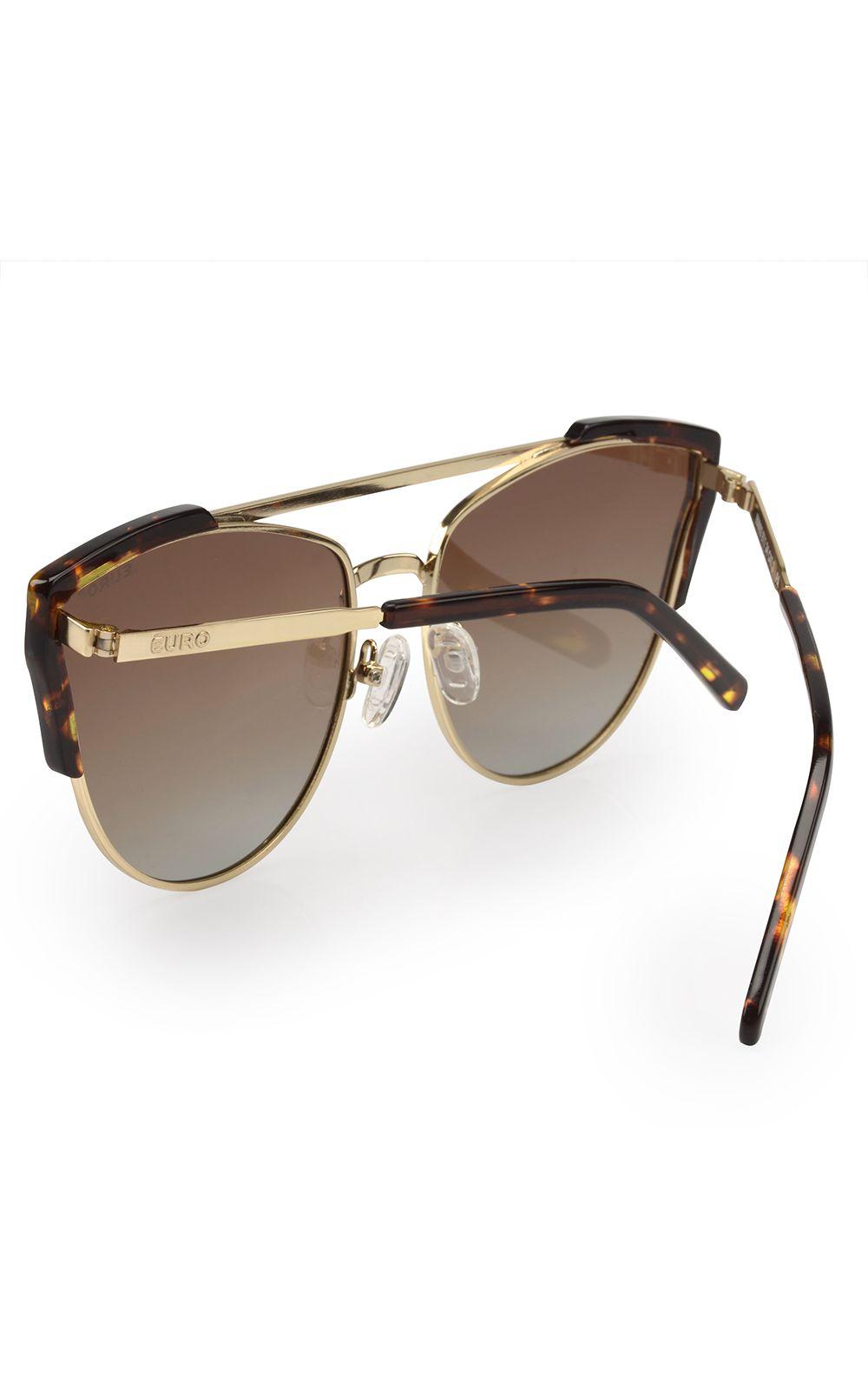 c13ada12e ... Foto 3 - Óculos Euro Feminino Acetato Hit Dourado E0002E1134/4D
