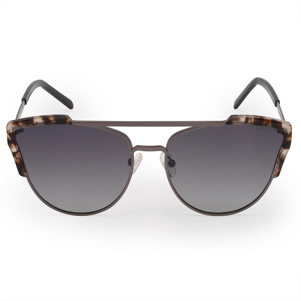 2cc123f0e Euro. Óculos Euro Feminino Acetato Hit Prata E0002D1633/4C. E0002D1633/4C. O  Óculos de Sol Grafite Tartaruga ...
