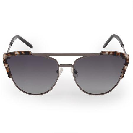Óculos Euro Feminino Acetato Hit Prata E0002D1633/4C