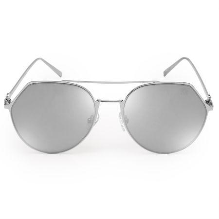 Óculos Euro Feminino Geométrico Prata E0009G2709/3K