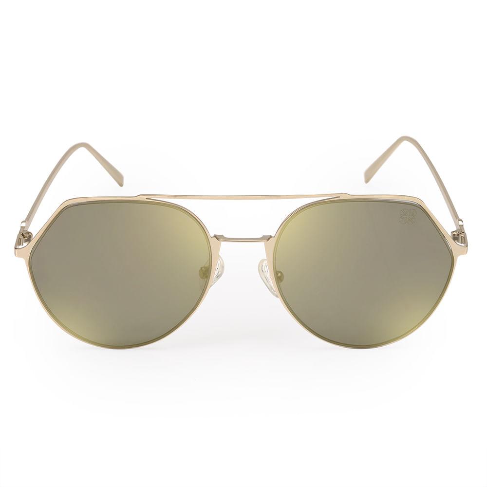 25bb4f4f6 Óculos Euro Feminino Geométrico Dourado E0009E1181/4D - timecenter