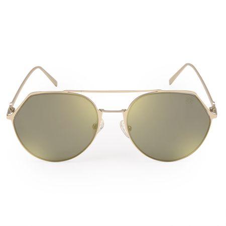 Óculos Euro Feminino Geométrico Dourado E0009E1181/4D