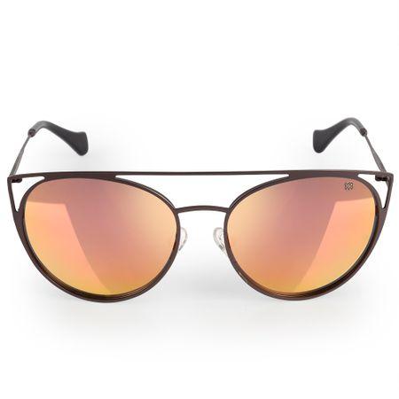 Óculos Euro Feminino Recortes Metalizados Grafite E0015D1646/4F