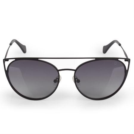 Óculos Euro Feminino Recortes Metalizados Preto E0015A1433/4P