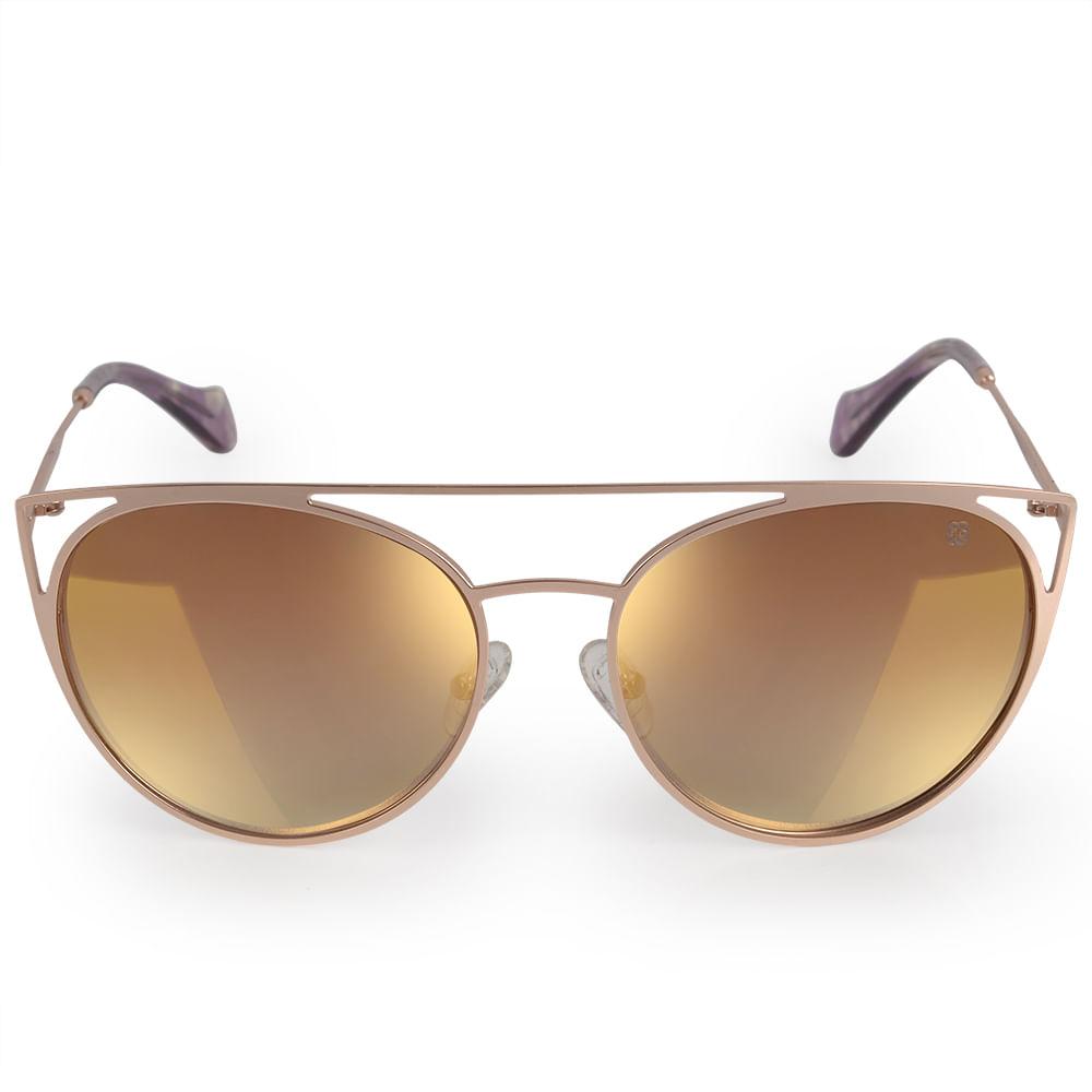 cbcbddb2e Óculos Euro Feminino Recortes Metalizados Dourado E0015E1131/4J ...