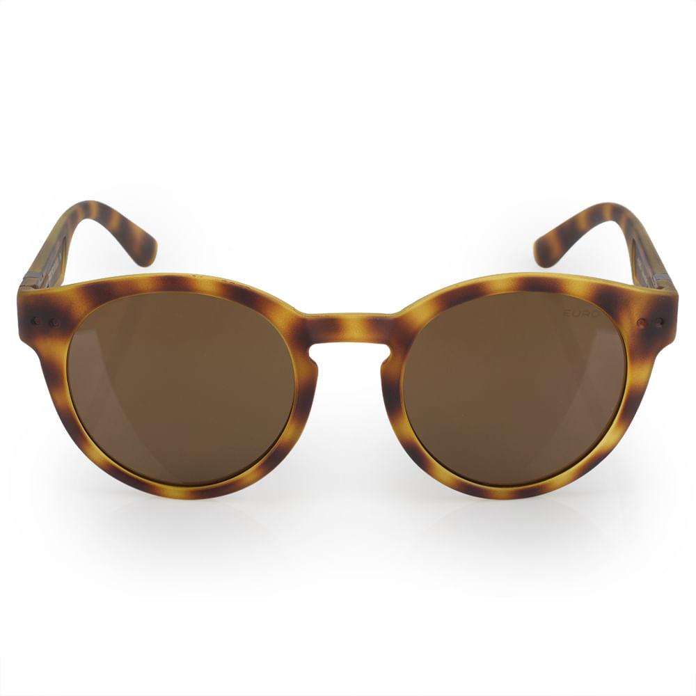 445ac66583c34 Óculos Euro Feminino Redondo Fashion Tartaruga E0023FE202 8S ...