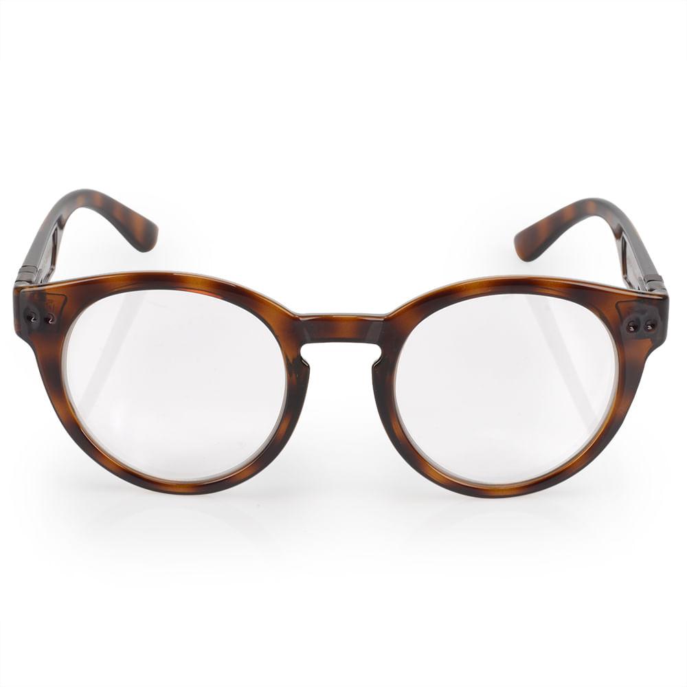 4e4bd5d73e606 Óculos Euro Feminino Redondo Fashion Tartaruga E6005F2152 8S ...