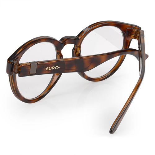 Óculos Euro Feminino Redondo Fashion Tartaruga E6005F2152 8S - euro 53a367e86b