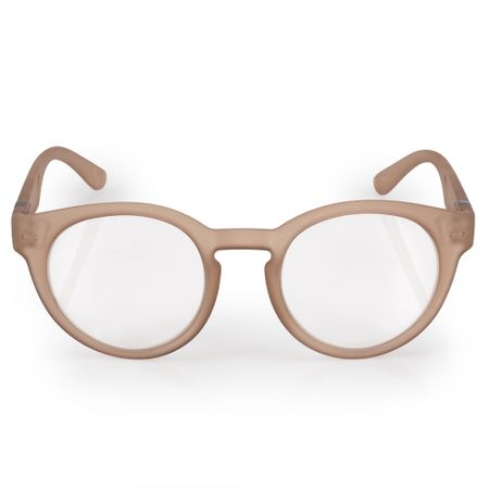 Óculos Euro Feminino Redondo Fashion Nude E6005B6352/8X