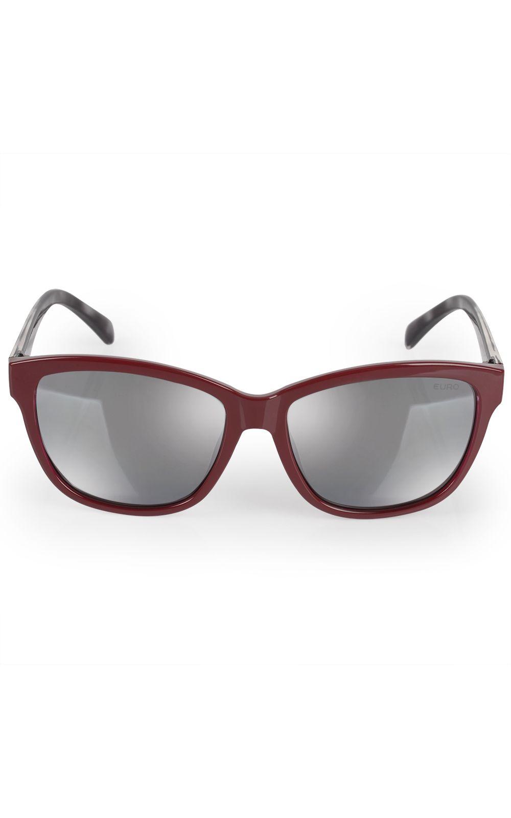 Foto 1 - Óculos Euro Feminino Quadrado Colors Vinho E0018C6309/4C