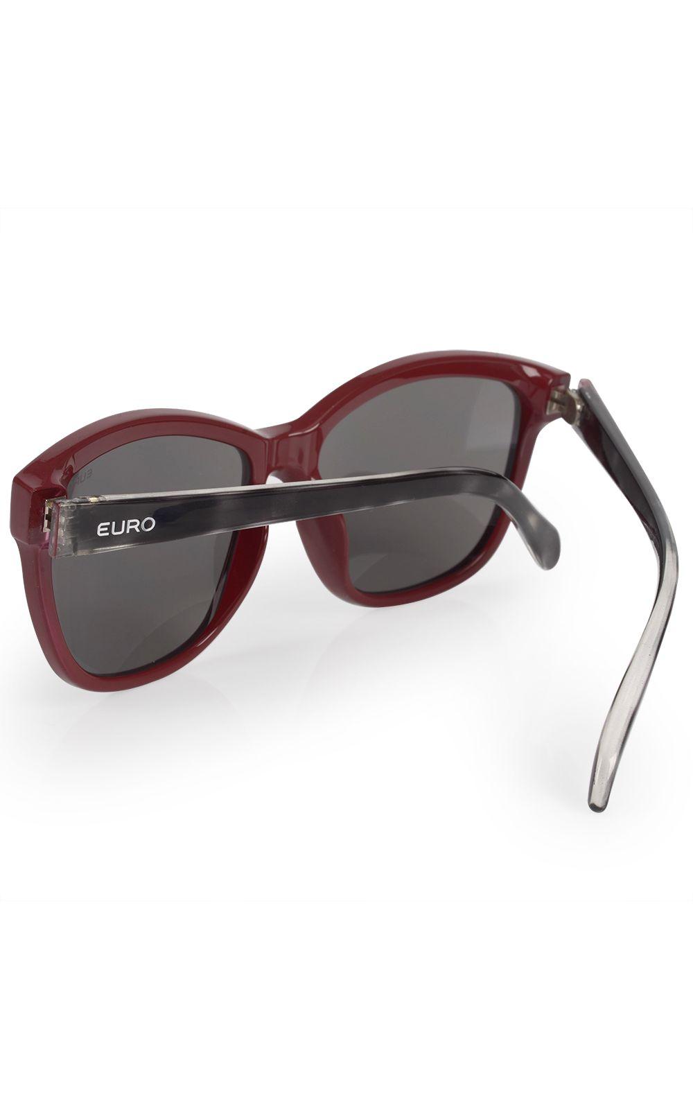 Foto 3 - Óculos Euro Feminino Quadrado Colors Vinho E0018C6309/4C
