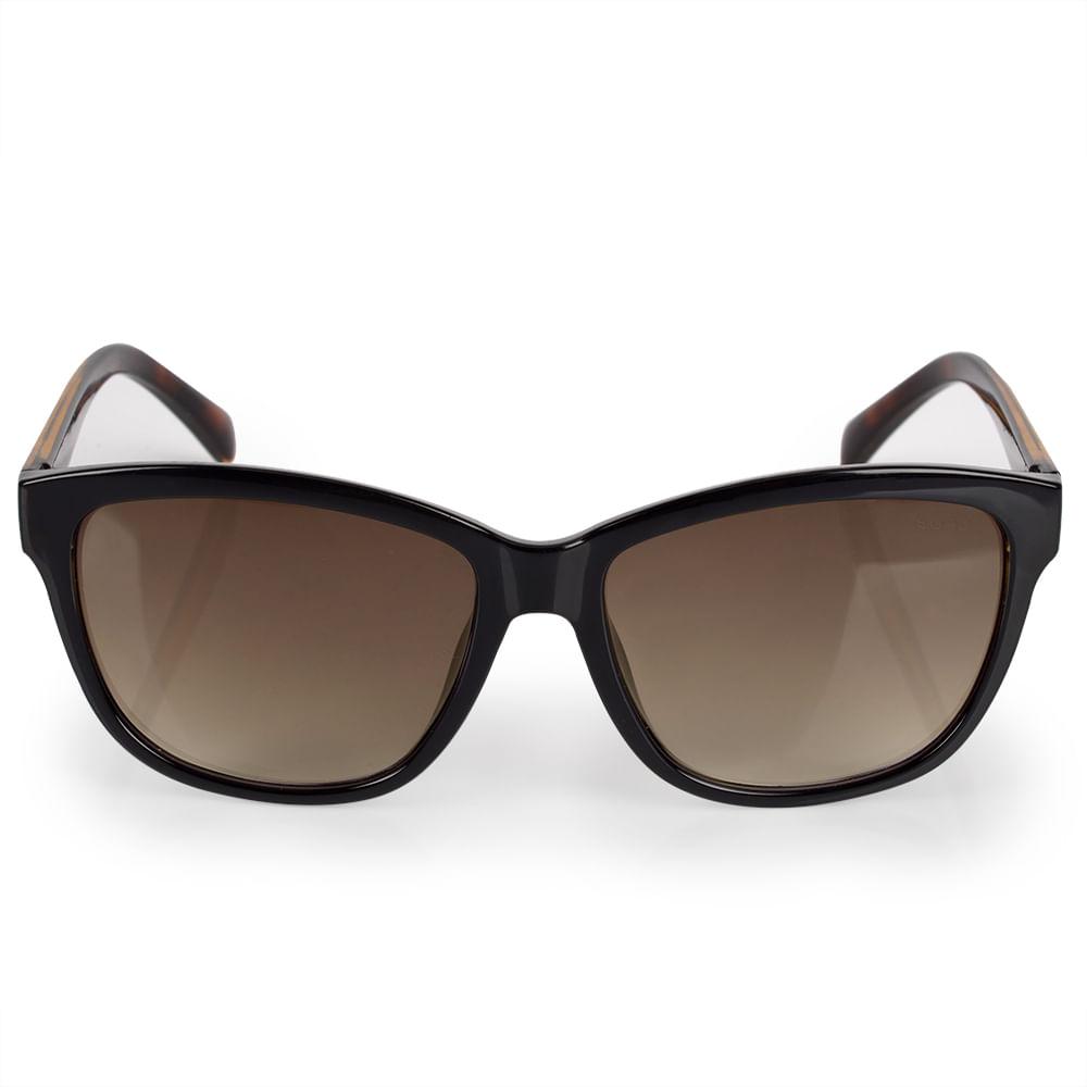 Óculos Euro Feminino Quadrado Colors Preto E0018A3134 4P - timecenter c3d66c94fa