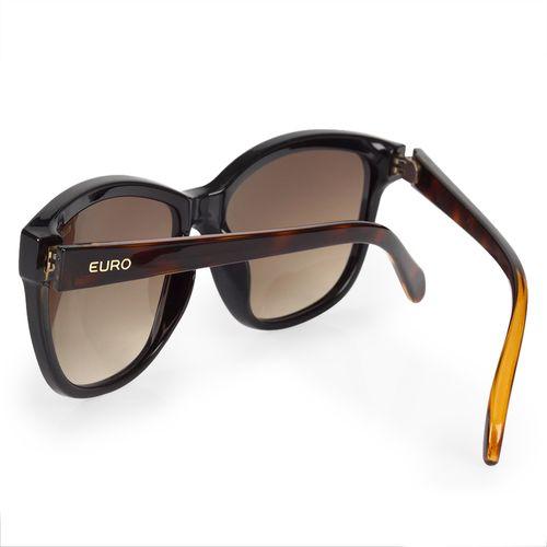 4fb908eb8a7c0 Óculos Euro Feminino Quadrado Colors Preto E0018A3134 4P - euro