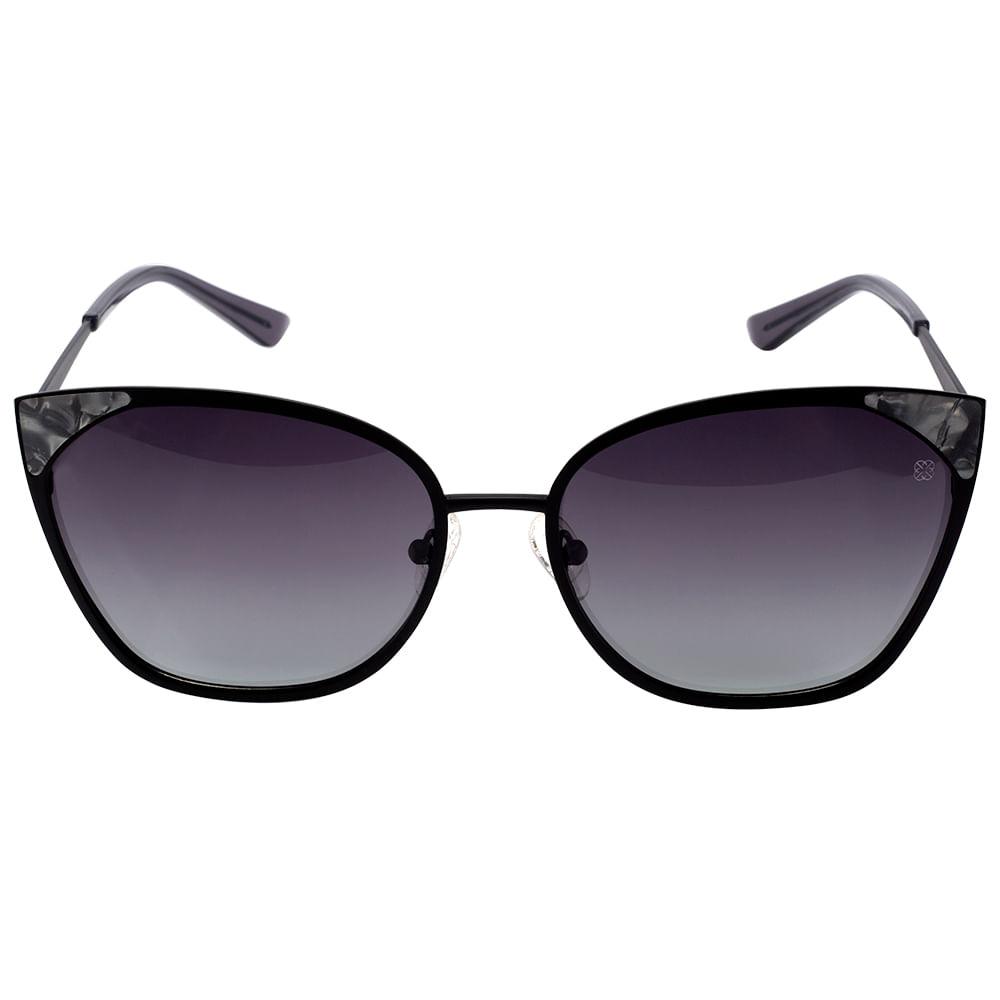 Óculos Euro Feminino Gatinho Preto E0012A1433 4P - timecenter a62dd85a12
