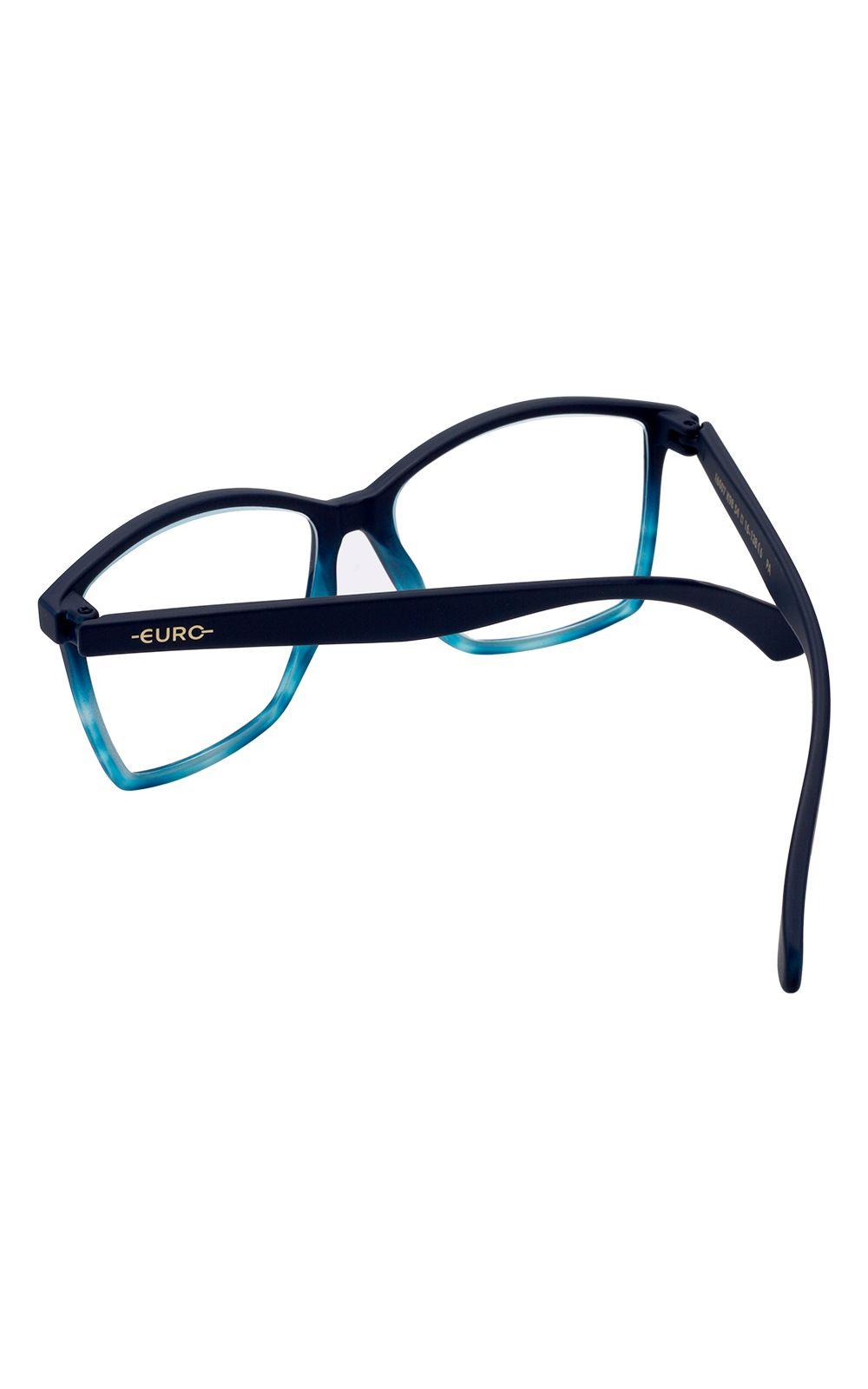 Foto 3 - Óculos Euro Feminino Color Fun Preto E6007K9854/8A