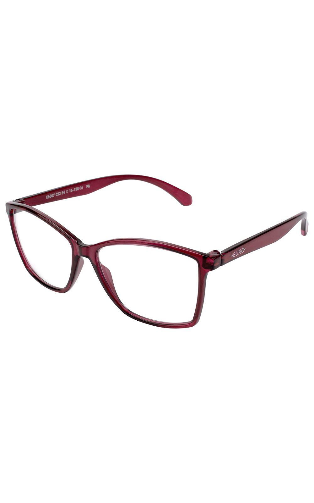 Foto 2 - Óculos Euro Feminino Color Fun Vermelho E6007C2354/8R